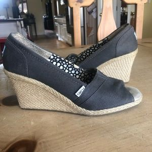 Gray TOMS Wedges